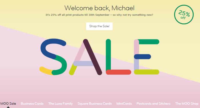 Moo.com Summer Sale - 25% off